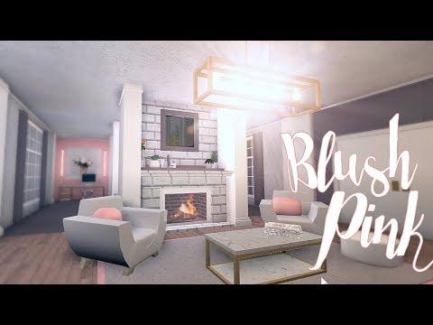 bloxburg blush pink room