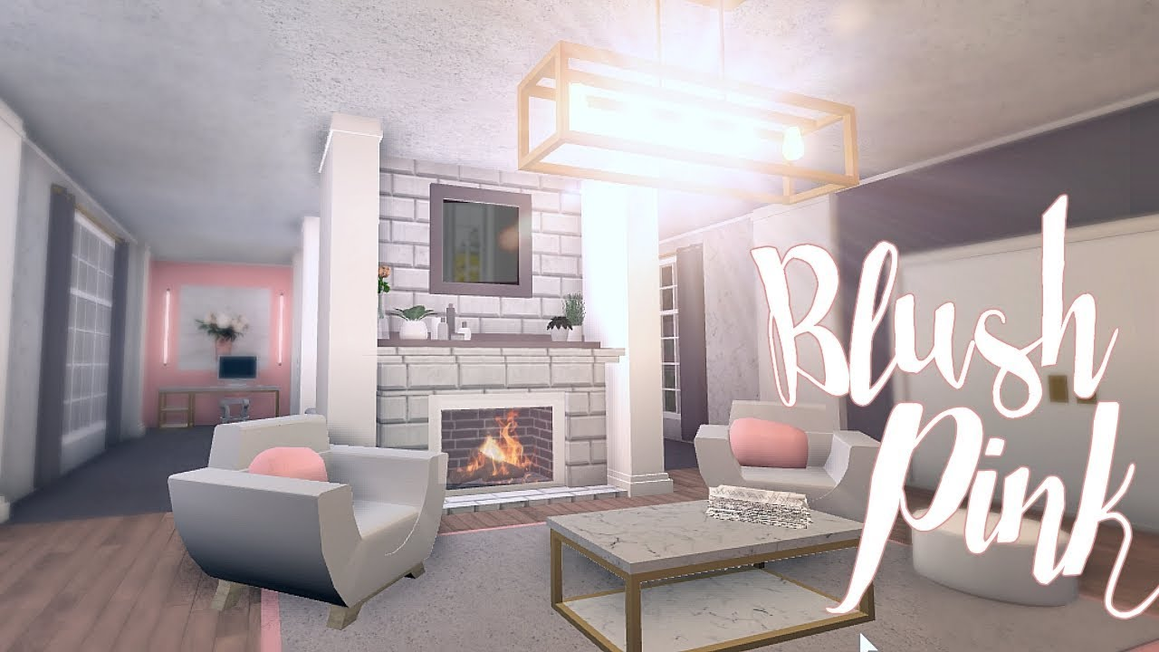 Bloxburg blush pink room 30k youtube for Kitchen designs bloxburg
