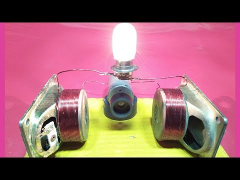 how to make free energy generator with magnet + speaker + motor electric generator new technology