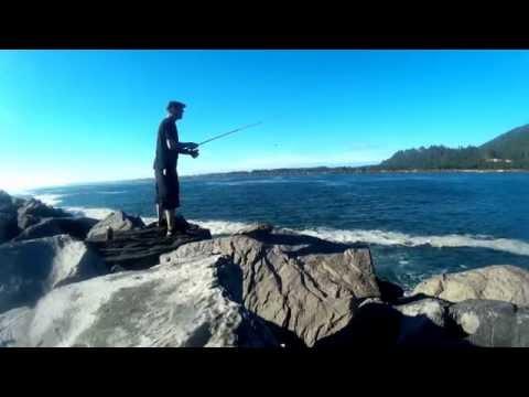 Bike Camping/Fishing at Tillamook Bay South Jetty