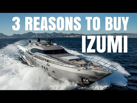 Palmer Johnson 120 super yacht for sale - 3 Reasons to Buy IZUMI