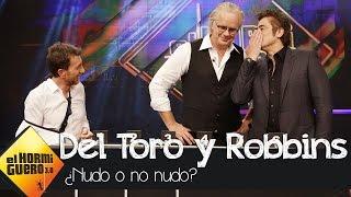 ¿Nudo o no nudo? con Tim Robbins y Benicio del Toro en El Hormiguero 3.0