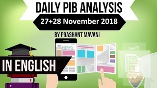 English 27 & 28 November 2018 PIB Press Information Bureau news analysis for UPSC IAS UPPCS SSC