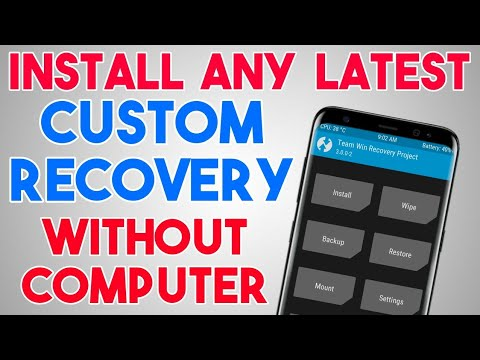how to install cwm recovery without pc and root
