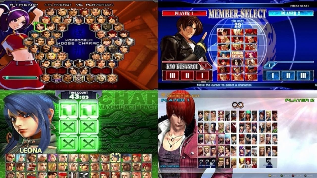 The King Of Fighters: Evolution of Select Screen (1994-2017)