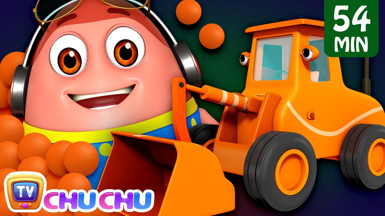 Learn Orange Color with Surprise Eggs Ball Pit Show + More Funzone Songs for Kids - ChuChu TV