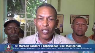 Marcelo Cordero: Entrega raciones alimenticias En San Fernando de Montecristi