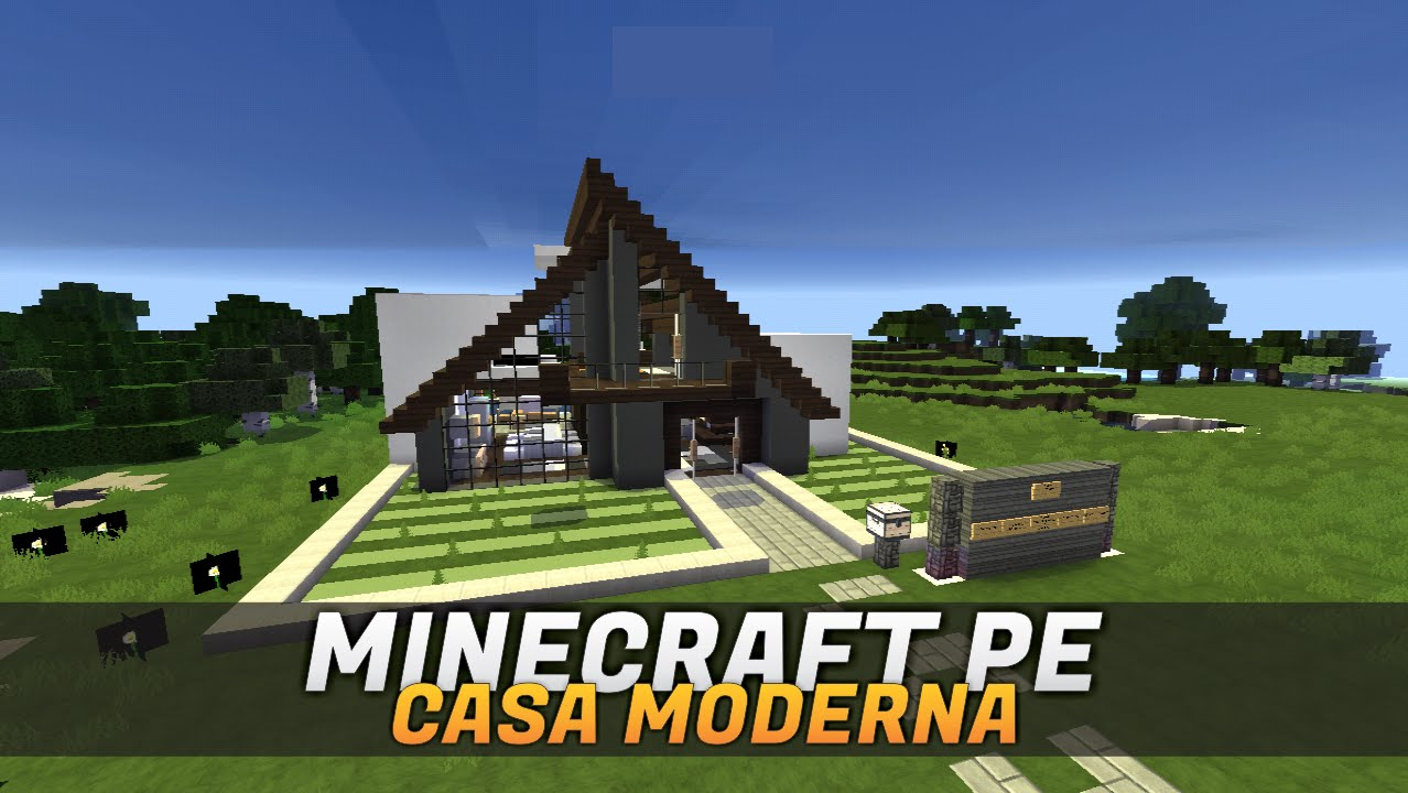 Minecraft pe casa moderna a frame download youtube for Casa moderna en minecraft pe