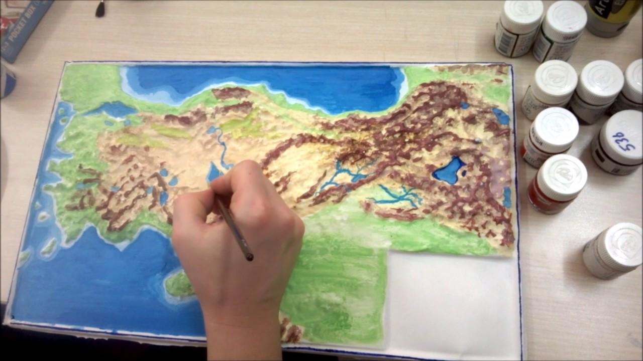 Türkiye Haritası Fiziki çalışmasısulu Boya 1 Youtube