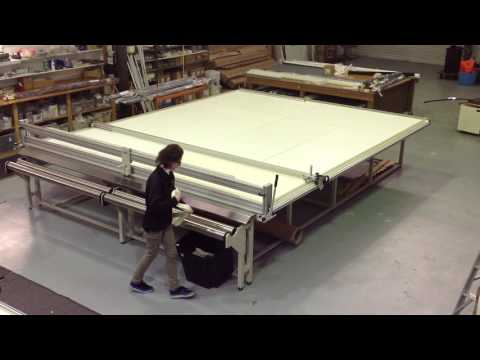 Raytech R3700 cutting table for blinds, shades and awnings