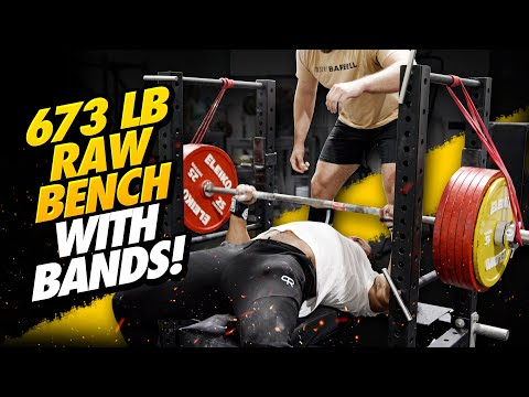 673 LB RAW BENCH WITH BANDS