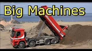 Scania Truck Vs Komatsu  Pc360 Lc Excavator- Big machines
