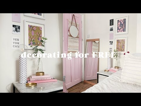Decorating a room for FREE 🏡 Bedroom makeover on a budget 2019