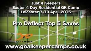 Goalkeeper Training J4K Residential Camp Top 5 Saves