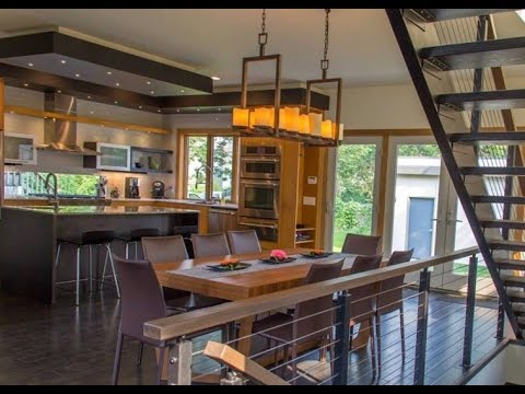 Casa moderna hecha de madera estilo americano youtube for Casas estilo americano interiores