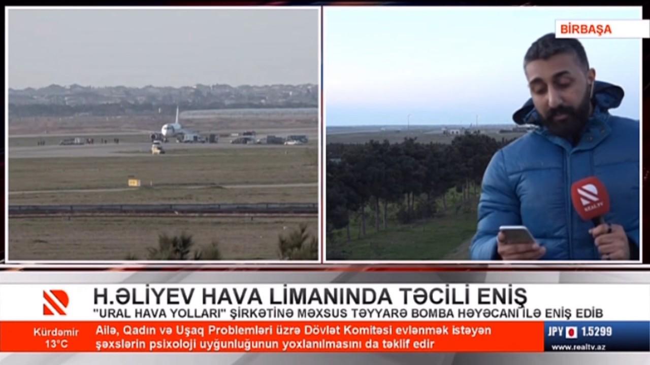 Rusiya şirkətinə məxsus təyyarə Bakıda təcili eniş etdi
