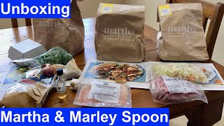 Martha & Marley Spoon Unboxing of their Meal Kit