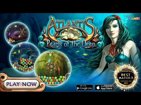 Atlantis: Pearls Of The Deep Game Trailer - Match 3 Game For IPhone And Android