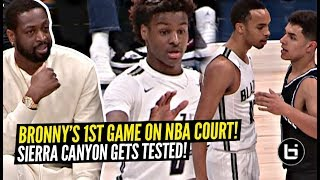Bronny James FIRST Game On NBA Court w/ Dwayne Wade Watching! Sierra Canyon TESTED!?