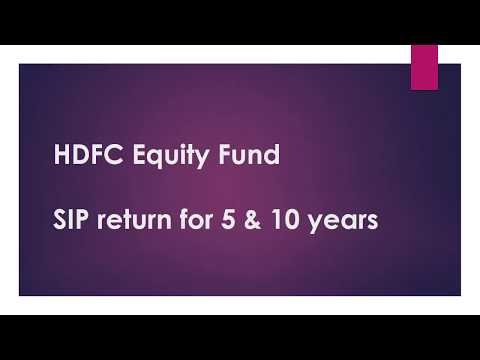 HDFC Equity Fund | SIP Return for 5 & 10 Years | Best Mutual Funds India