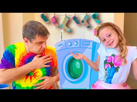 Nastya muốn trở thành một đứa con gái ngoan của bố và kỷ niệm Ngày của Cha