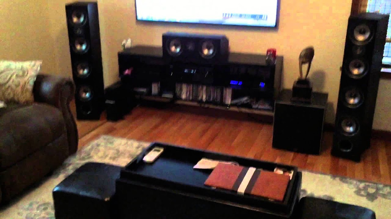 My 5 2 Polk Home Theatre System Youtube