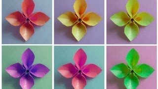 Repeat youtube video How to Fold an Origami Hollow-Petal Flower (version 1)