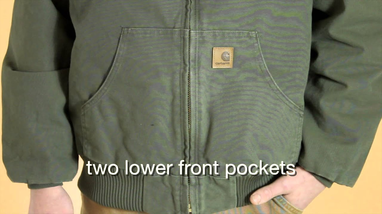 092ff6980ec8f J130 Carhartt Men s Quilted-Flannel-Lined Sandstone Active Jac - YouTube