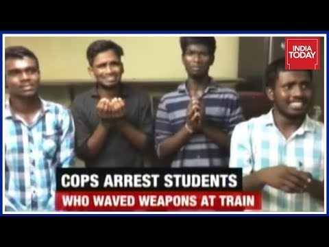 TN Police Arrests 3 College Students Performing Deadly Stunts On Moving Train