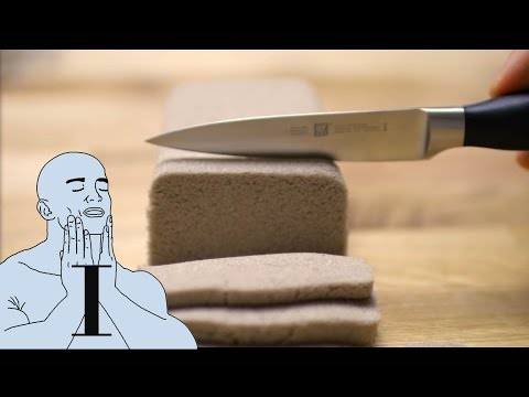 ASMR Kinetic Sand Satisfaction 1 ✦  Sharp Cutting, Knife Stroking, Cookie-Cutter Shaping & more