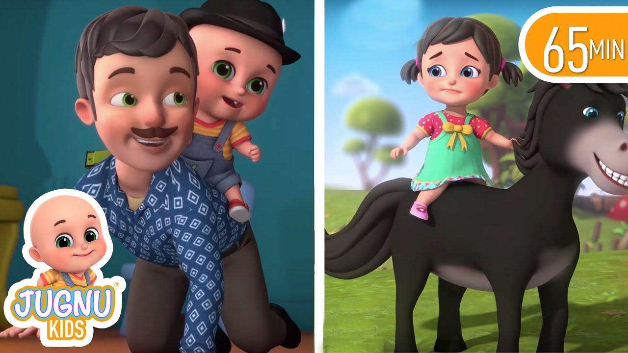Download Chal Mere Ghode - Horse Song   Aloo Kachaloo   Hindi kahani   Hindi Rhymes for Children Jugnu kids