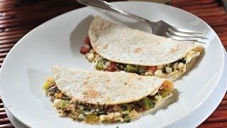 Quesadillas De Vegetales - Vegetable Quesadillas - Recetas De Cocina Mexicana