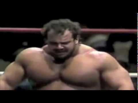 Ted Arcidi vs Big John Studd  The Ultimate Musclebear Match!!