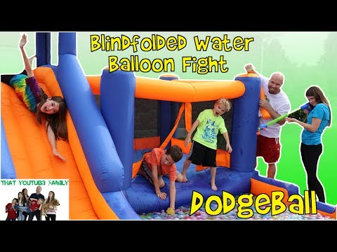 Save HUGE WATER BALLOON FIGHT AND WATER BALLOON DODGE-BALL / That YouTub3 Family Pics