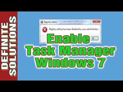 How To Enable Task Manager In Windows 7 - Definite Solutions