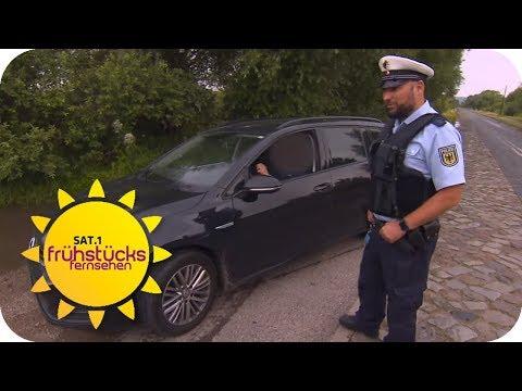 Die Jagd nach Kriminellen an der polnischen Grenze  SAT.1 Frühstücksfernsehen  TV