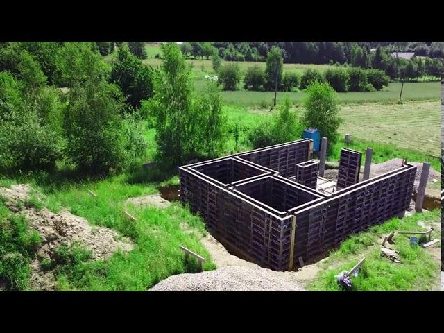 Budowa domu przy użyciu szalunków RASTO   Łazy k. Jerzmanowic   ABC Szalunki #budowa #szalunki