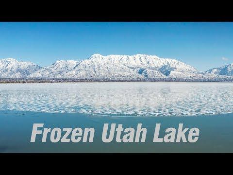 Saratoga Springs Utah Lake Ice Winter 2018-2019 4K