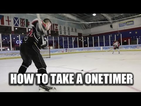 How To Take A One Timer In Hockey - Improve Your One Timers Video Tutorial