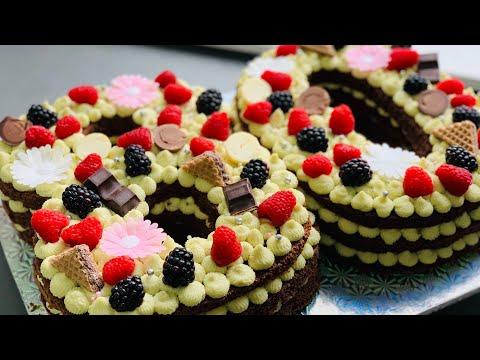 Торт Цифра! Сборка + Оформление Торта Цифра!  Шоколадно - фисташковый Торт Цифра!