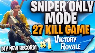 World Record new Sniper LTM? 27 KILLS!