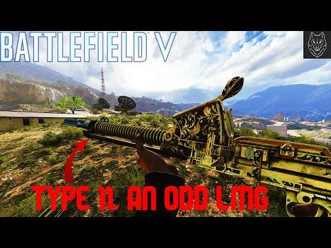 Battlefield V Type 11, an odd LMG |