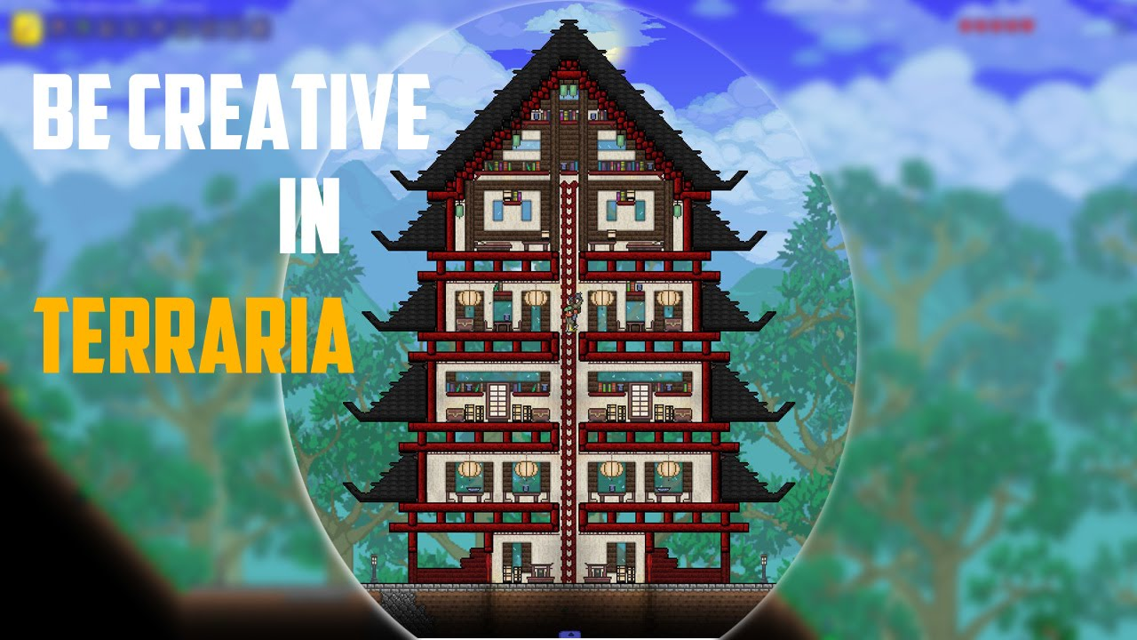 Be Creative In Terraria 1 Chinese House  LionsPoor