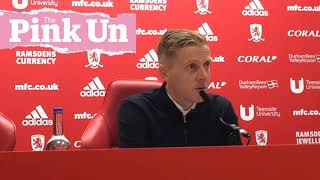 Middlesbrough boss Garry Monk on Norwich City defeat
