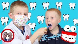Dentist Visit - Pretend Play with Doctor Set Toys | Kids Learn Dental Care | डॉक्टर सेट