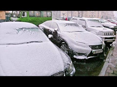 СНЕГ В АПРЕЛЕ в Харькове 18 04 2017 Сюрпризы погоды - Весенний снегопад