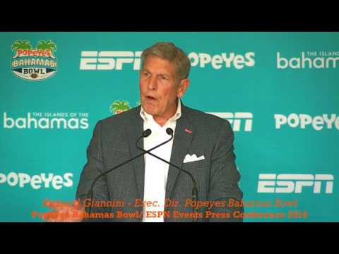 POPEYES BAHAMAS BOWL 2016: Richard Giannini - ESPN EVENTS PRESS CONFERENCE