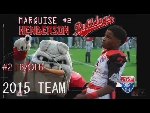 "MARQUISE ""LIL TWIN"" HENDERSON 2015 B TEAM HIGHLIGHTS MICHIGAN BULLDOGS"