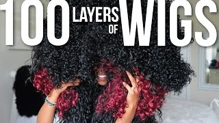 100 LAYERS OF WIGS!!