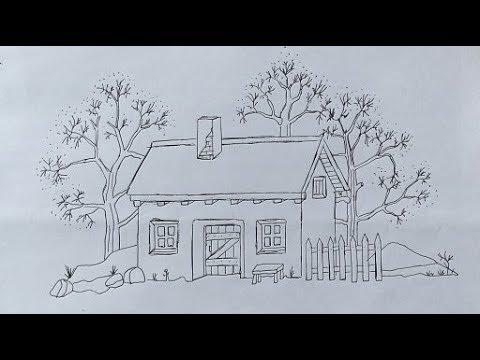 Как нарисовать красиво дом